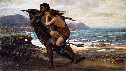 Fisherman And Mermaid by Elihu Vedder