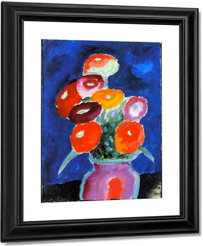 Flowers In A Vase By Alexei Jawlensky By Alexei Jawlensky