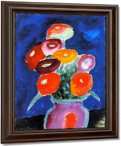 Flowers In A Vase By Alexei Jawlensky