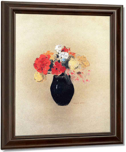 Flowers In A Vase By Odilon Redon