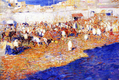 Moroccan Market (Also Known As Morocco [The Great Souq]) by Theo Van Rysselberghe