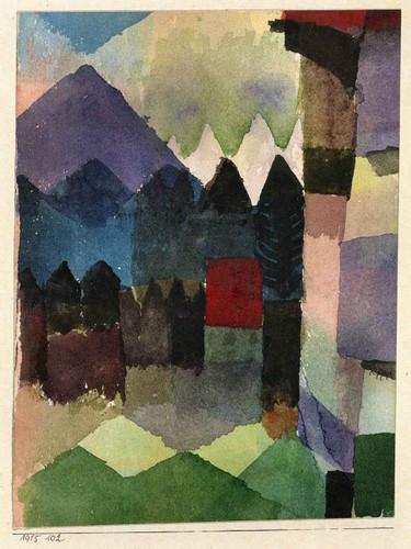 Fohn In Marc's Garden By Paul Klee