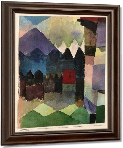 Fohn In Marc's Garden By Paul Klee Art Reproduction
