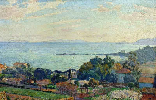 St. Clair Bay In February by Theo Van Rysselberghe
