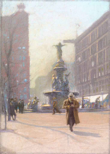 Fountain Square By Edward Potthast