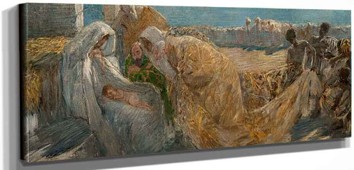 The Adoration Of The Magi By Gaetano Previati