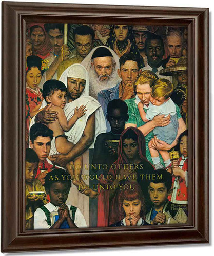 The Golden Rule by Norman Rockwell