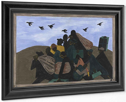 The Migration Series, Panel No 3 From Every Southern Town Migrants Left By The Hundreds To Travel North by Jacob Lawrence