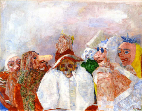 Masks Mocking Death by James Ensor
