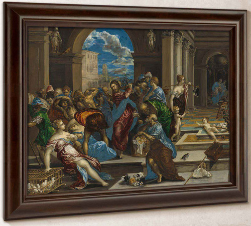 Christ Cleansing The Temple By El Greco by El Greco