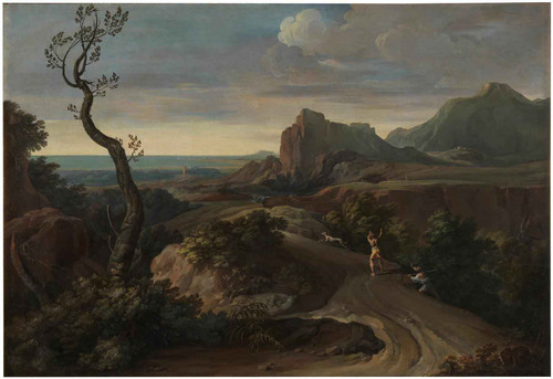 Landscape With Hunters by Nicholas Poussin