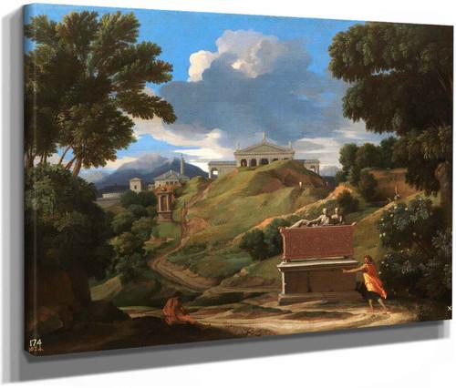Landscape With Ruins by Nicholas Poussin