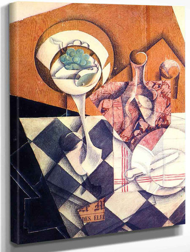 Fruit Dish With Bottle1 By Juan Gris