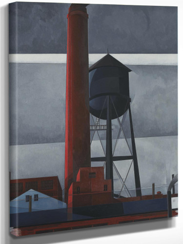 Chimney And Water Tower By Charles Demuth by Charles Demuth