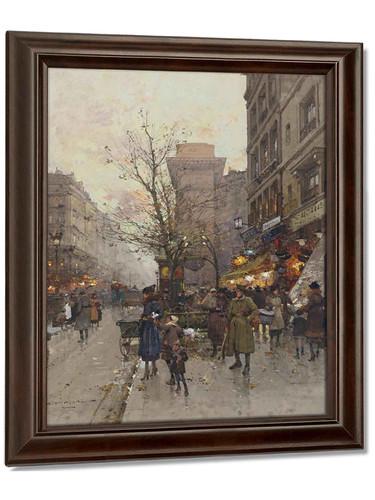 La Porte Saint Denis Paris by Eugene Galien Laloue