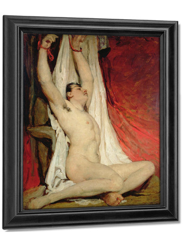 Male Nude By William Etty by William Etty