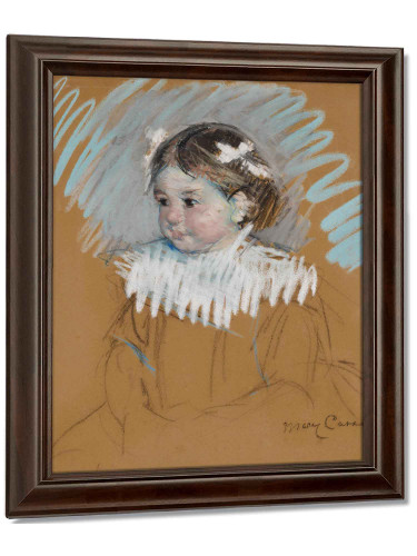 Mary Cassatt Bust Of Ellen With Bows In Her Hair by Mary Cassatt