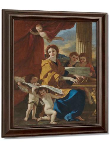 Saint Cecilia by Nicholas Poussin