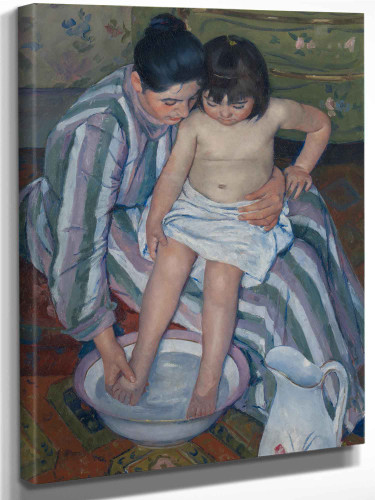 The Childs Bath By Cassatt Mary by Mary Cassatt