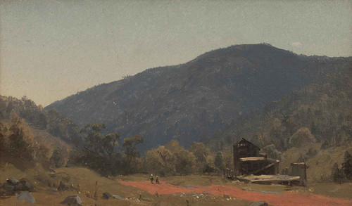 A Sketch Of The Old Tannery In Kauterskill Clove by Sanford Robinson Gifford