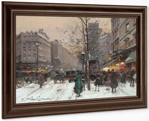 La Porte St Martin by Eugene Galien Laloue