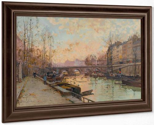 La Seine by Eugene Galien Laloue