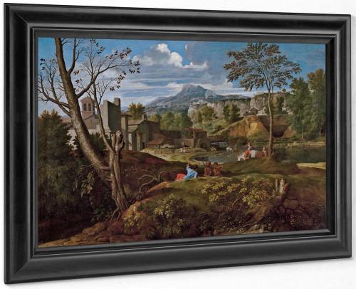 Landscape With Buildings by Nicholas Poussin