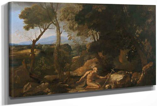 Landscape With Saint Paul The Hermit by Nicholas Poussin