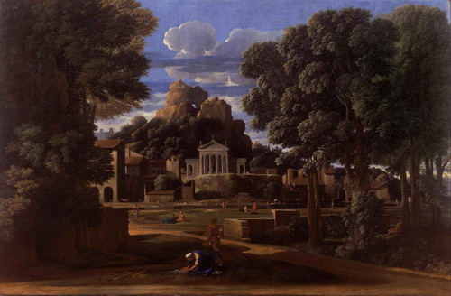 Landscape With The Ashes Of Phocion by Nicholas Poussin