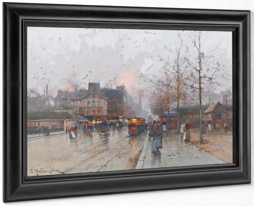 Porte De Chatillon by Eugene Galien Laloue