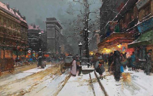 Porte Saint Denis Paris by Eugene Galien Laloue