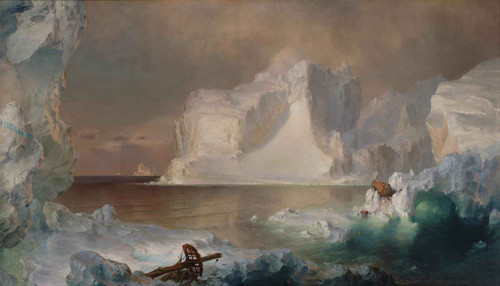 The Icebergs Painting Frederic Edwin Church by Frederic Edwin Church