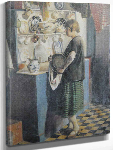Gertrude In The Kitchen By Harold Harvey