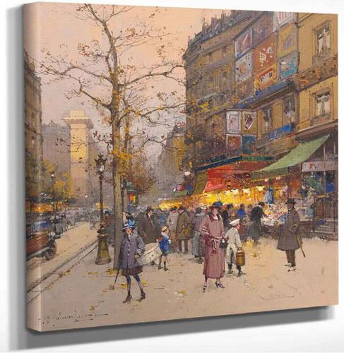 Porte Saint Martin by Eugene Galien Laloue