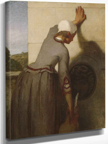 Girl At The Fountain By William Morris Hunt