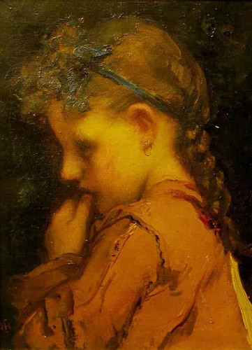 Girl In Pink Sack By William Morris Hunt