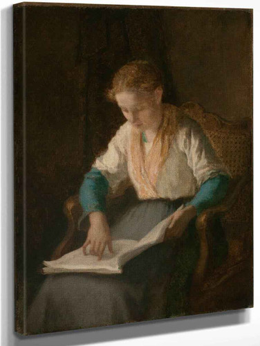 Girl Reading By William Morris Hunt