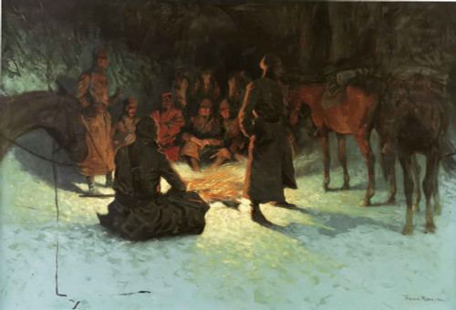 A Halt In The Wilderness Frederic Remington