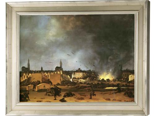 Explosion Of A Powder Magazine In Delft Johannes Vermeer