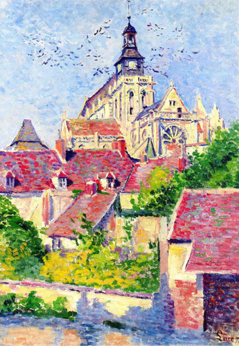 Gisors Cathedral, View From The Fosse Aux Tanneurs1 By Maximilien Luce By Maximilien Luce