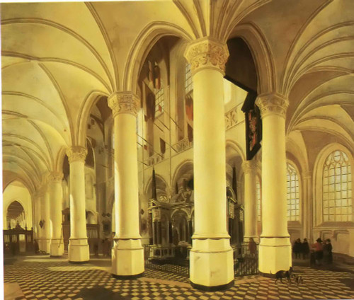 Ambulatory Of The The New Church Of Delft Johannes Vermeer