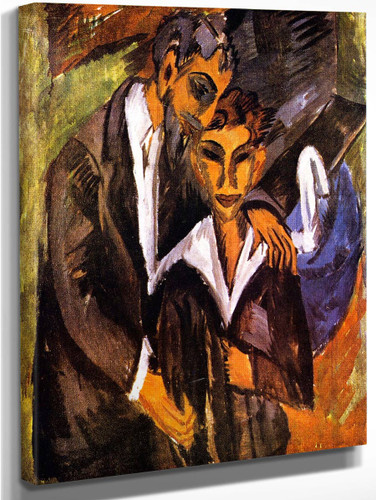 Graef And Friend By Ernst Ludwig Kirchner By Ernst Ludwig Kirchner
