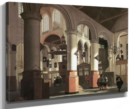 Interior Of Old Church In Delft Johannes Vermeer