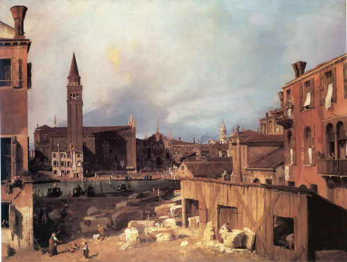The Stonemasons Yard (1) Canaletto