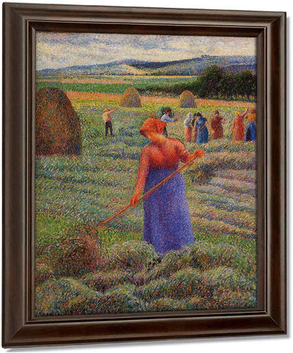 Haymakers At Eragny By Camille Pissarro
