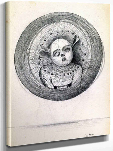 Head In A Sphere By Odilon Redon