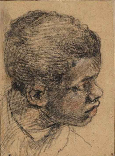 Head Of A Back Boy By Paolo Veronese