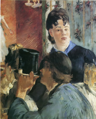 Girl Serving Beer by Edouard Manet