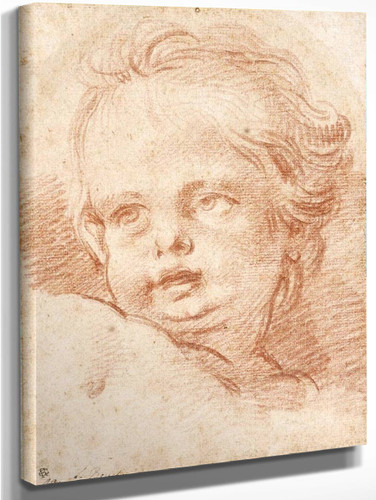 Head Of A Child By Francois Boucher