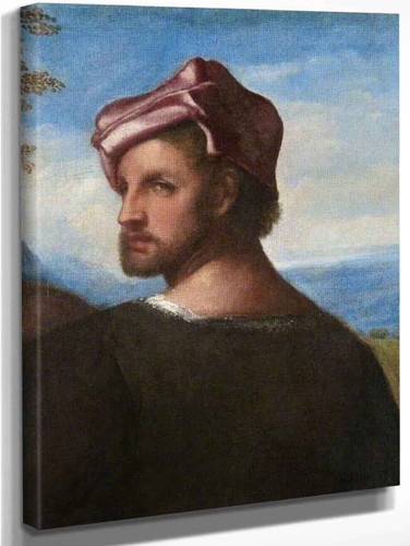 Head Of A Man  1 By Titian